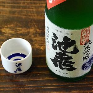 池亀 純米吟醸 生原酒 720ml 利き猪口つき